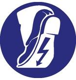 Autocollant chaussures de sécurité conductrice obligatoire