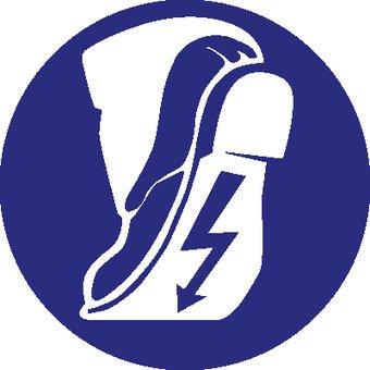 Conductive shoes mandatory sticker