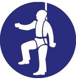 Autocollant harnais de sécurité obligatoire