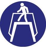 Pegatina usar el paso de peatones obligatorio