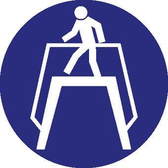 Use pedestrian crossing sticker