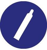 Pegatina cilindro de gas bajo presión
