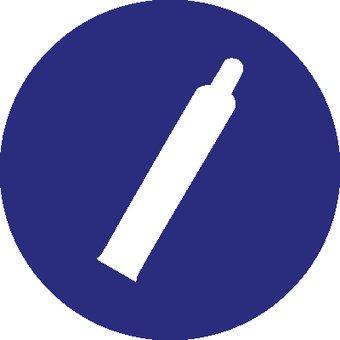 Gas cylinder under pressure sticker