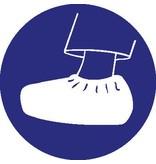 Autocollant couvre-chaussure obligatoire