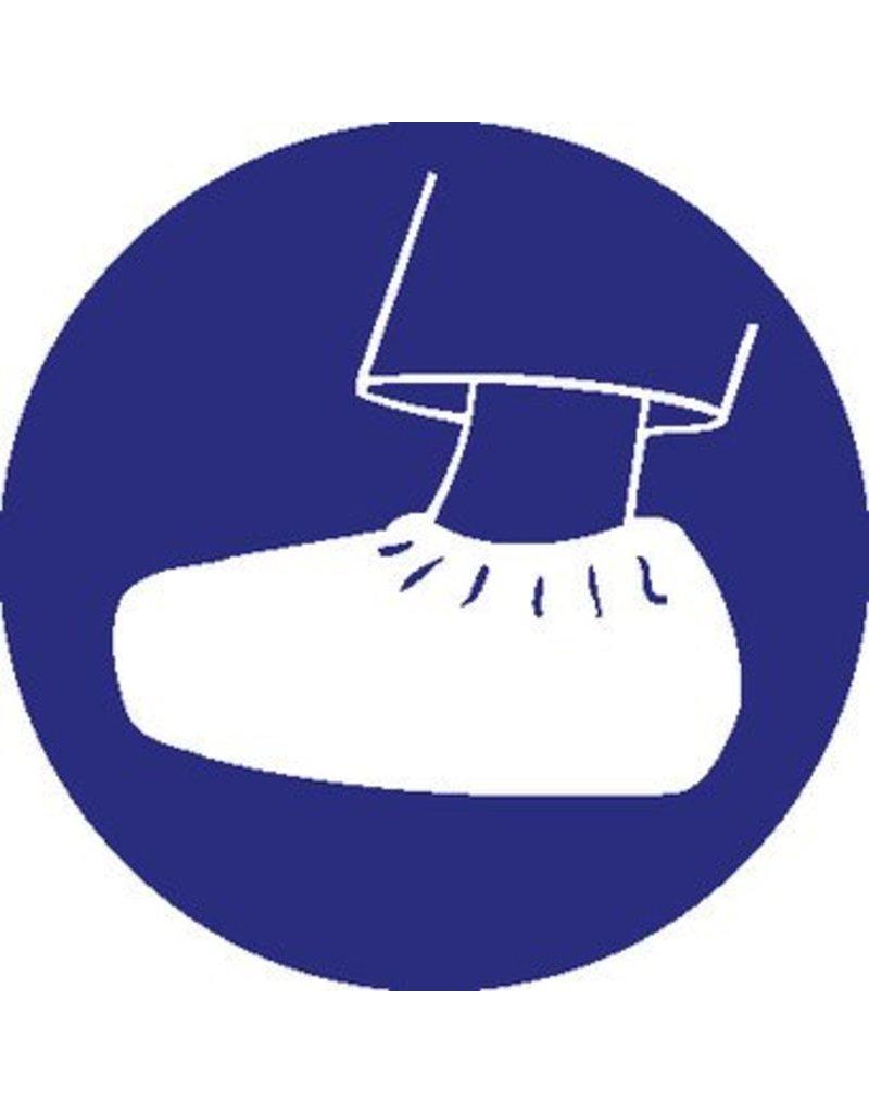 Pegatina cubierta de pies obligatorio