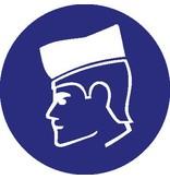 Pegatina gorra de protección obligatorio