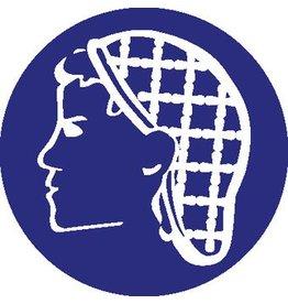 Haarnet verplicht Sticker