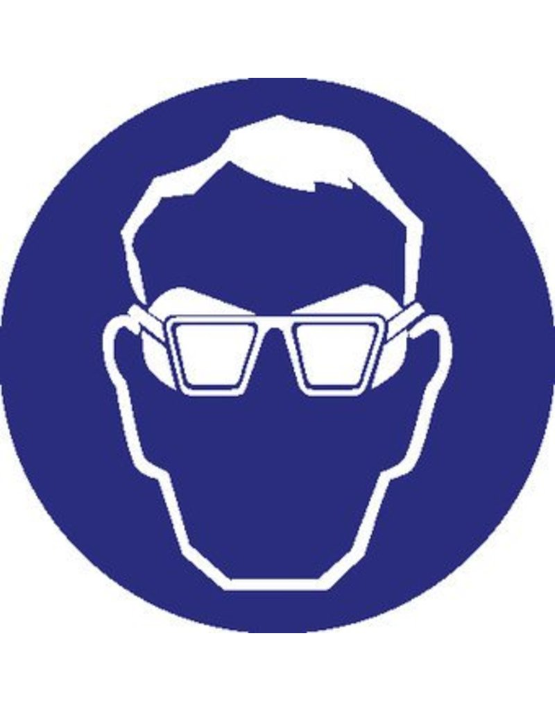Wearing goggles with sidepannels mandatory sticker