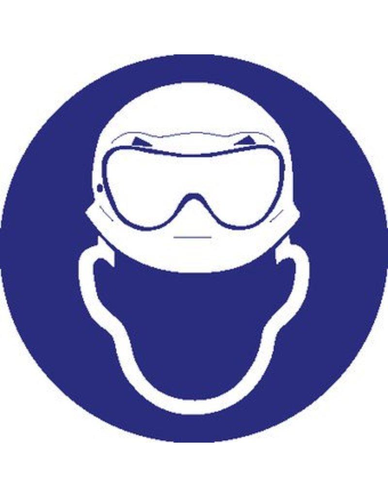 Autocollant casque et lunette anti-acide obligatoire
