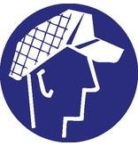 Pegatina gorra de protección obligatorio 2