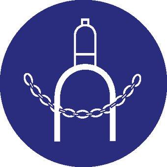 Autocollant obligatoire de fournir la bouteille de gaz avec une chaîne