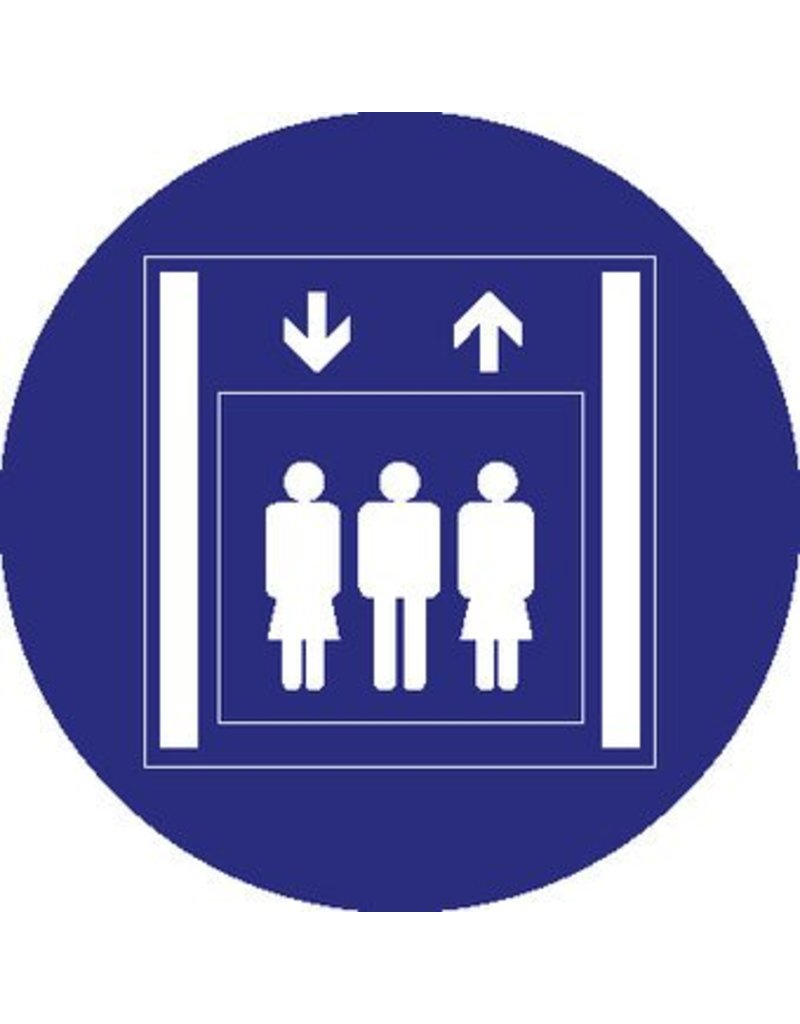 Passenger elevator sticker