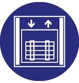 Pegatina ascensor de mercancías