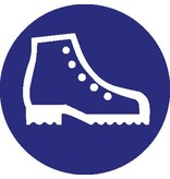 Safety shoes mandatory sticker 2