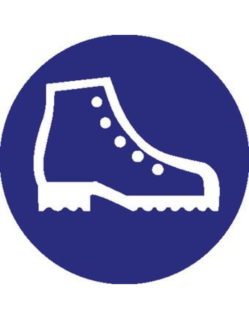 Safety shoes mandatory sticker 2