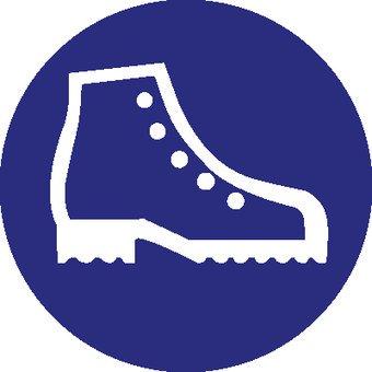 Pegatina zapatos de securidad obligatorio 2