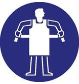 Protective slove mandatory sticker