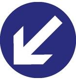 Autocollant flèche de direction
