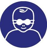 Pegatina protección de ojos para clientes obligatorio