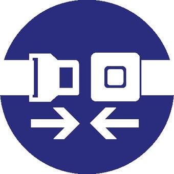 Autocollant ceinture de sécurité obligatoire