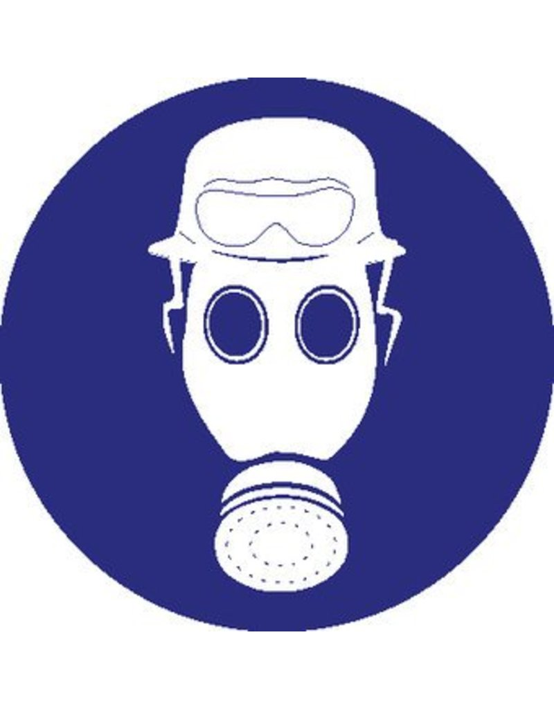 Helmet, gasmask and fire goggles mandatory sticker