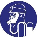 Autocollant protection respiratoire lourd obligatoire avec lunette antiacide