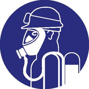 Zware ademhalingsbescherming met speciale zuurbril
