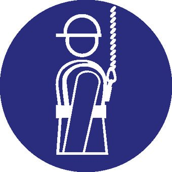 Autocollant harnais de sécurité obligatoire 2