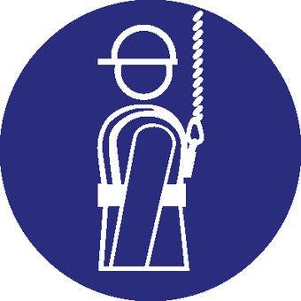 Individueel veiligheidsharnas verplicht Sticker 2