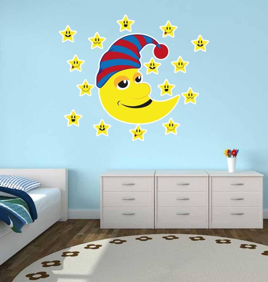 Children's room stickers - Stars & Moon