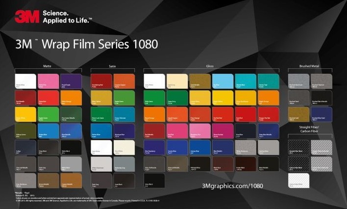 3m 1080: Gloss Black Metallic