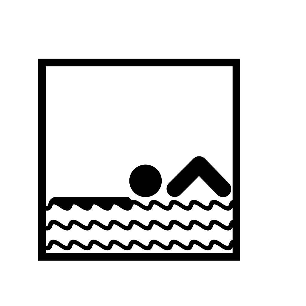 Zwemmen Snijvinyl