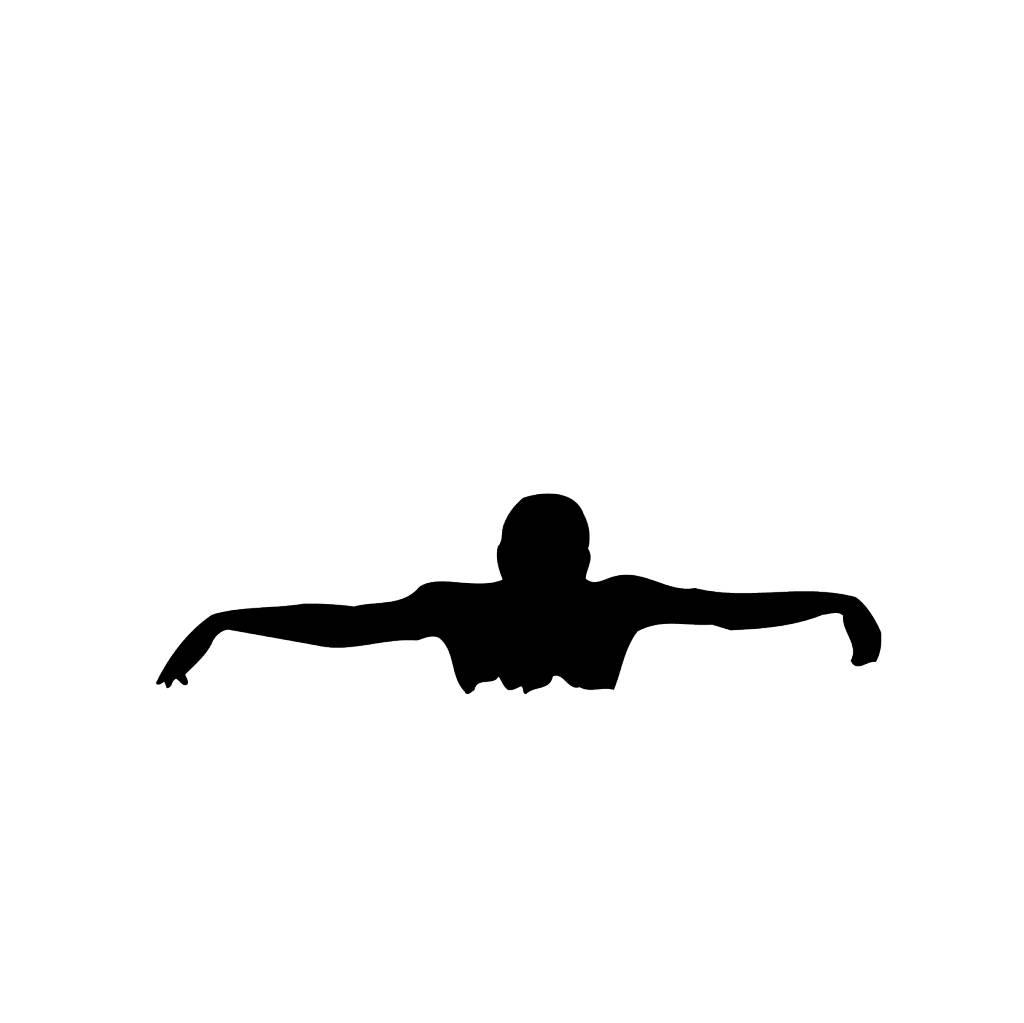 Zwemmen2 Snijvinyl