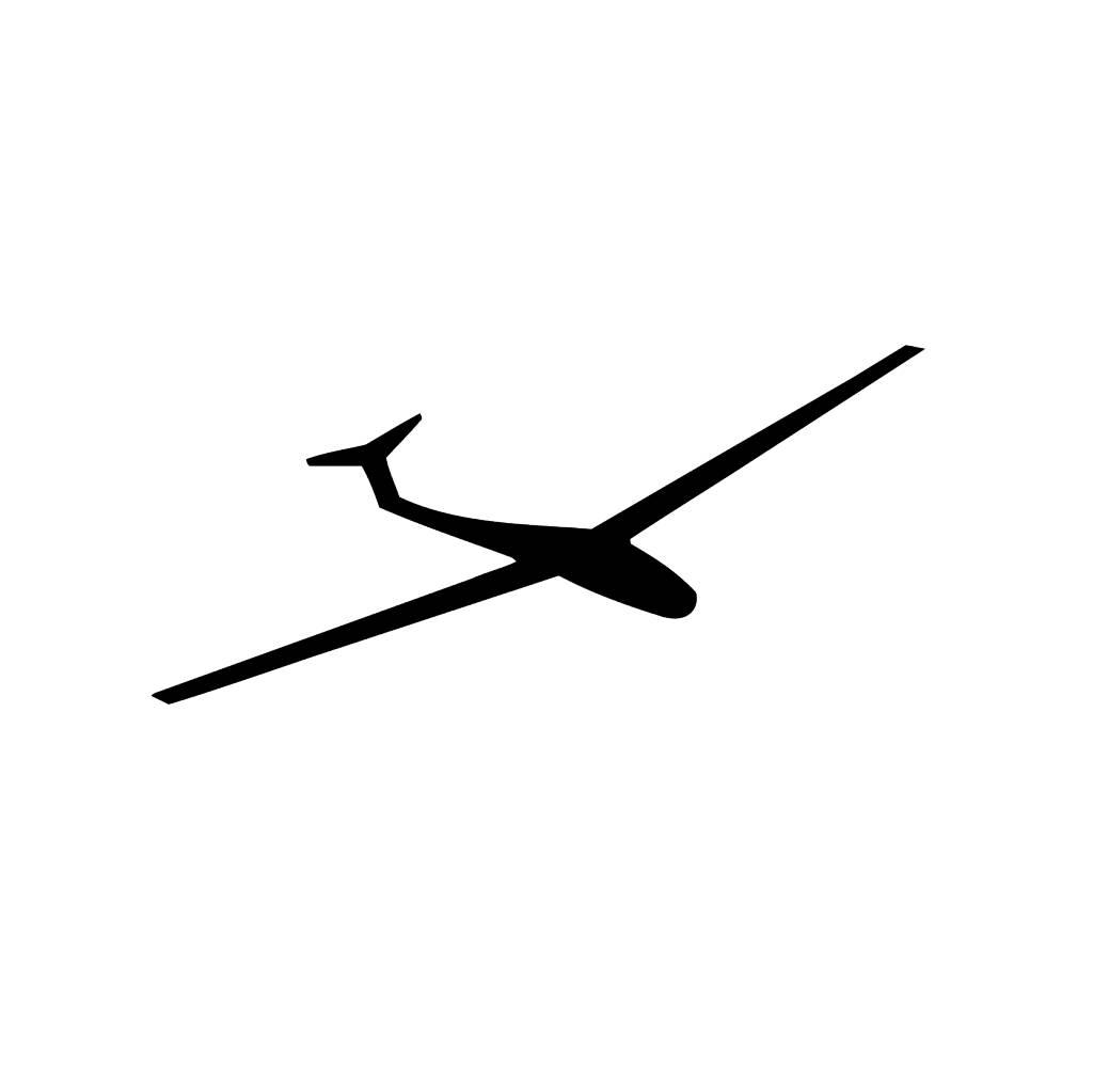 Zweefvliegtuig Snijvinyl