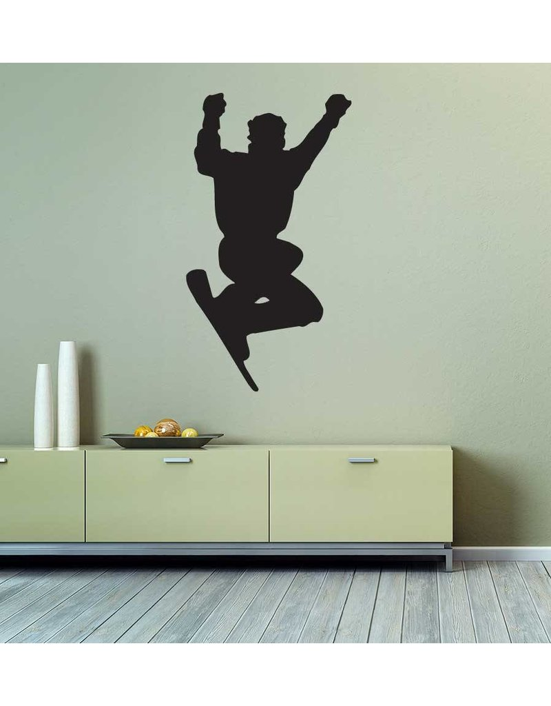 Votre passe-temps ou votre sport préféré au mur? Commandez des autocollants mural noir mat ici. (Les autocollants convient également une autre surface plane).