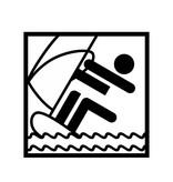 Vinilo decorativo: Hacer surf