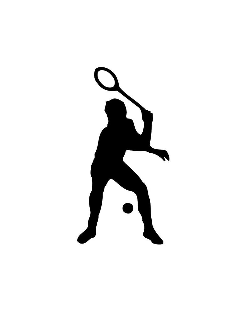 Vinilo decorativo: El tenis  2