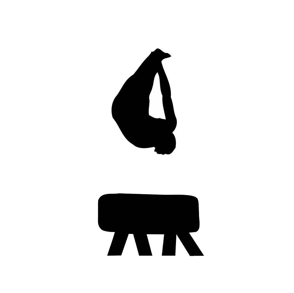 Gymnastics 6 Cut Vinyl