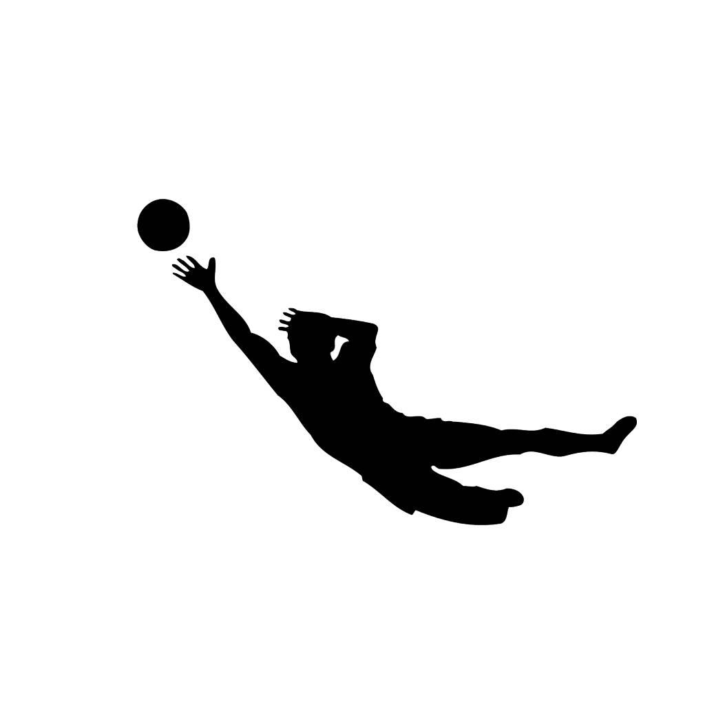 Fußball Folienschnitt
