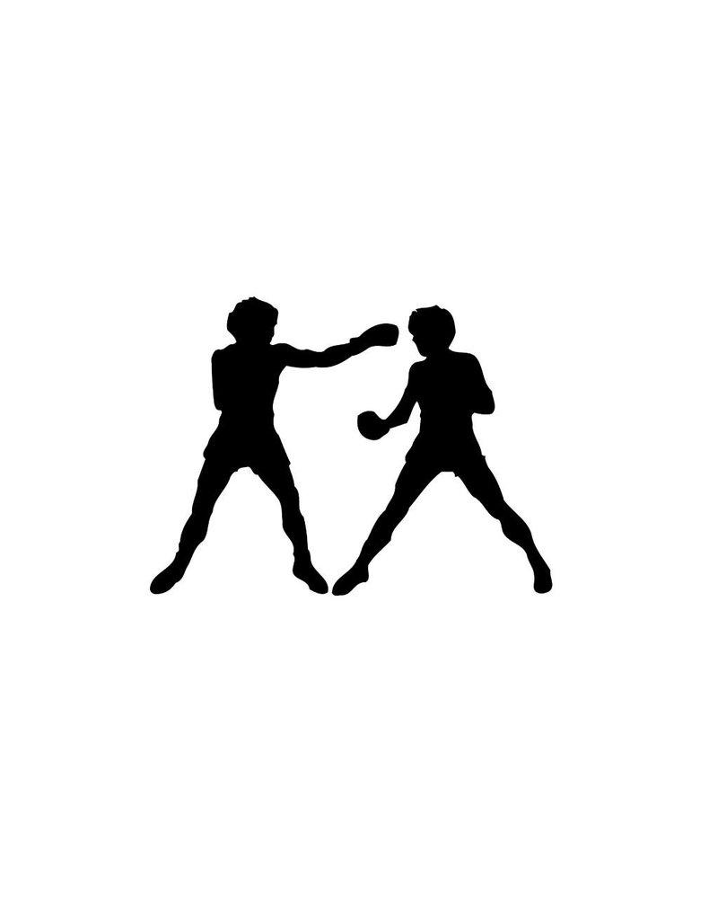 Vinilo decorativo: Boxear