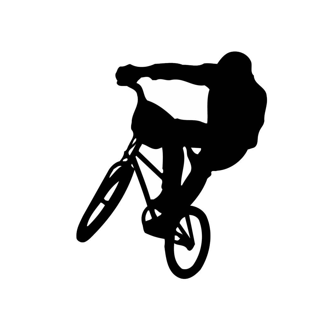 Vinilo decorativo: Bicicleta cross