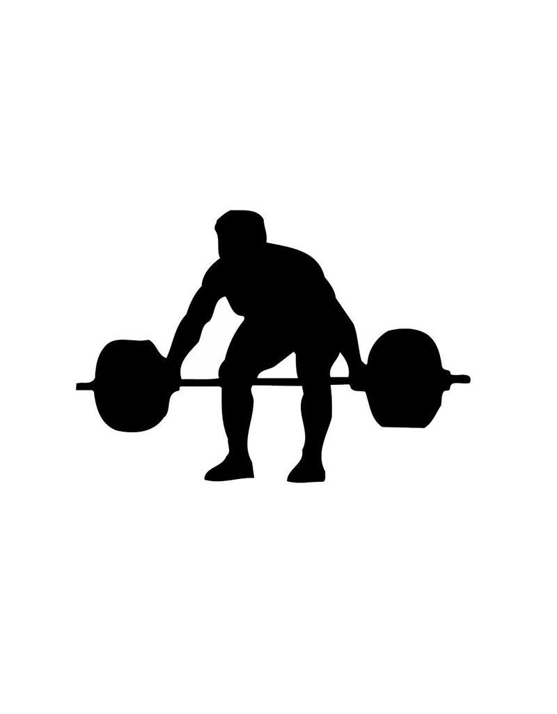 Gewichtheben Folienschnitt