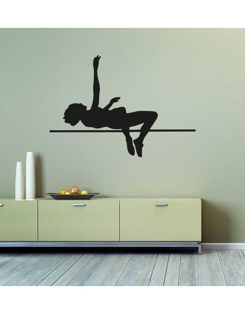 Vinilo decorativo: Salto de altura