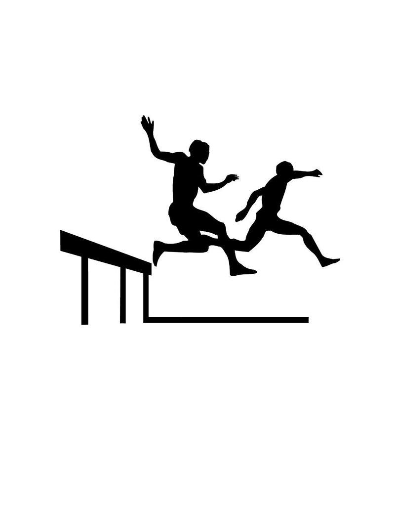 hurdle jump 2 Cut Vinyl