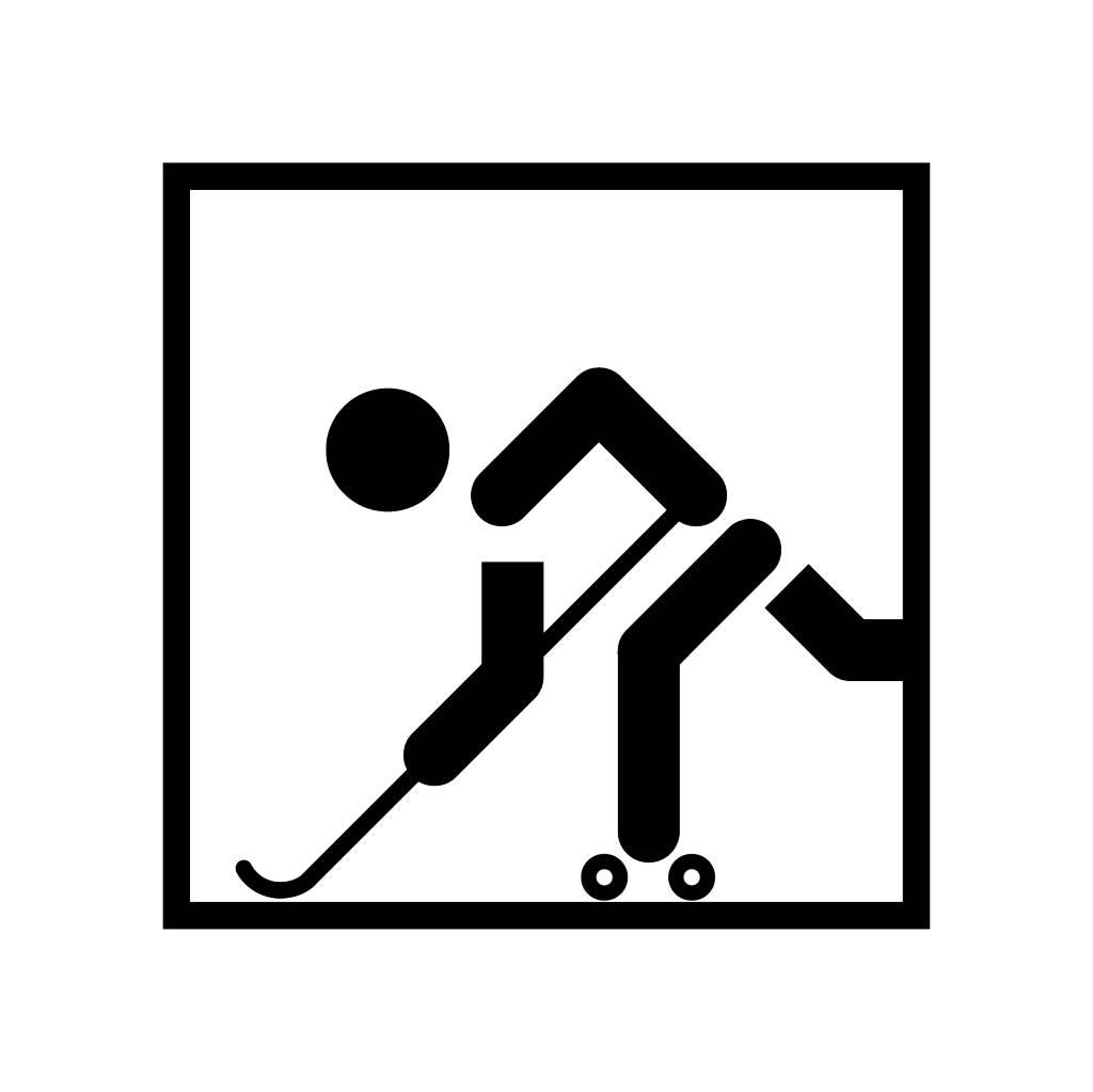 Vinilo decorativo: Hockey sobre ruedas