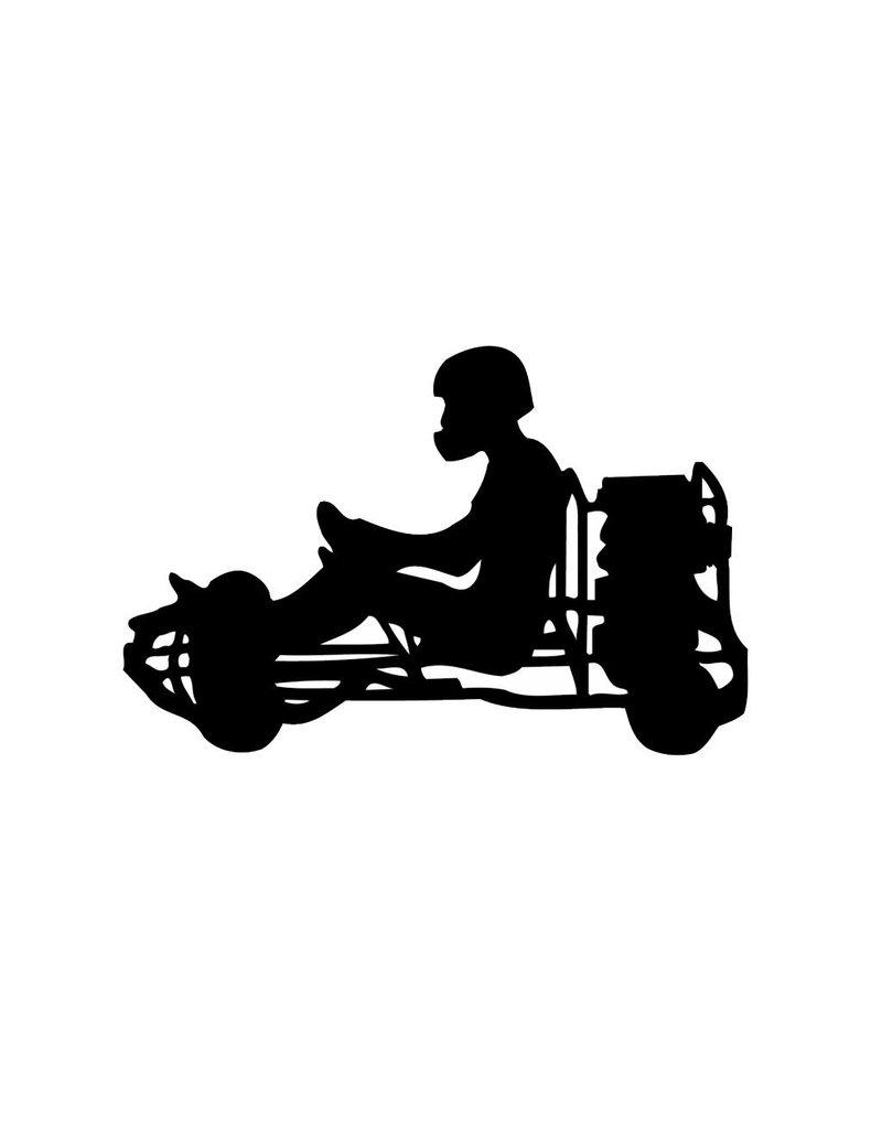 Vinilo decorativo: El karting