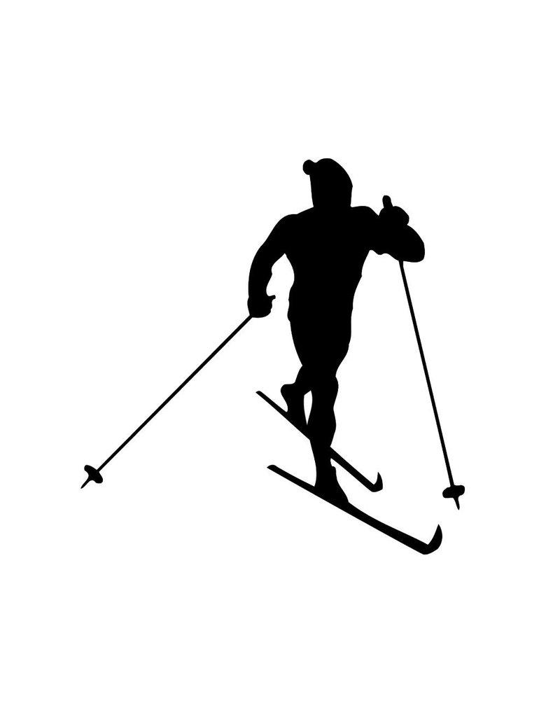 Vinilo decorativo: esquí de fonde