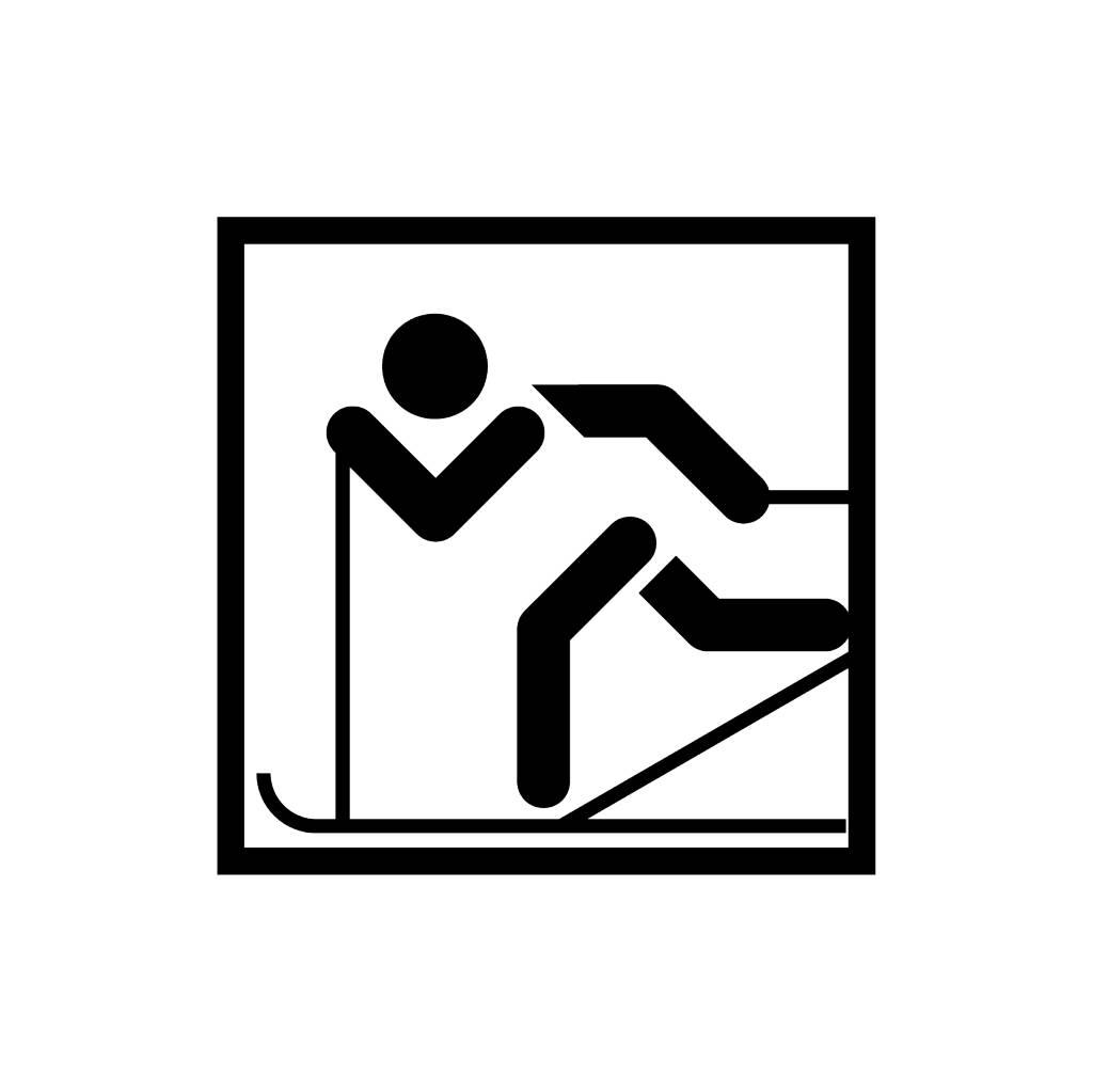 Vinilo decorativo: Hacer esquí de fonde