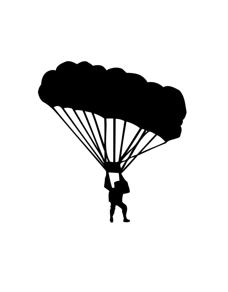 Vinilo decorativo: Paracaidismo