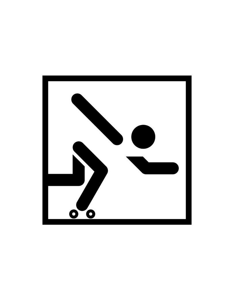 Vinilo decorativo: Patinar sobre ruedas